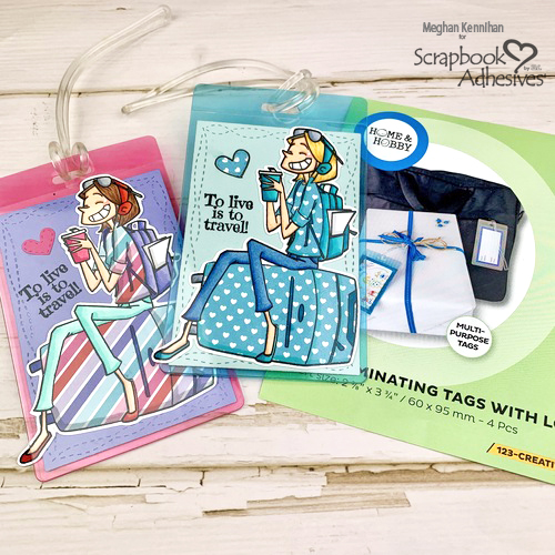 Live to Travel Luggage Tags by Meghan Kennihan for Scrapbook Adhesives by 3L