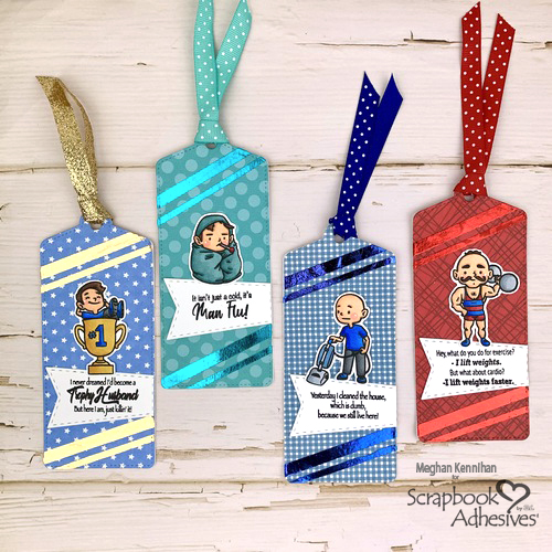 Unique Masculine Bookmarks by Meghan Kennihan for Scrapbook Adhesives by 3L