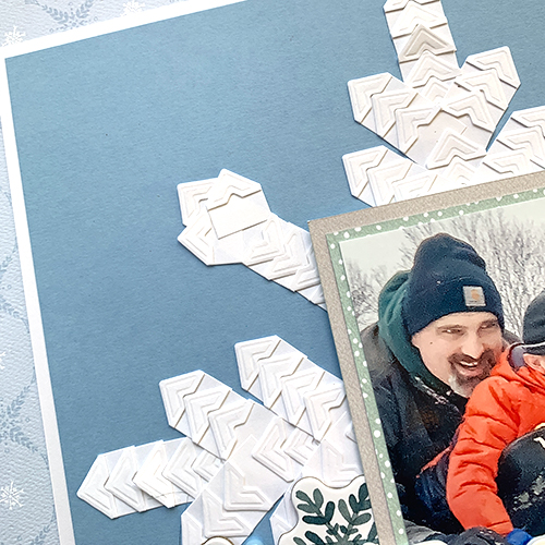 Snowflake Creative Photo Corner Layout by Christine Meyer for Scrapbook Adhesives by 3L