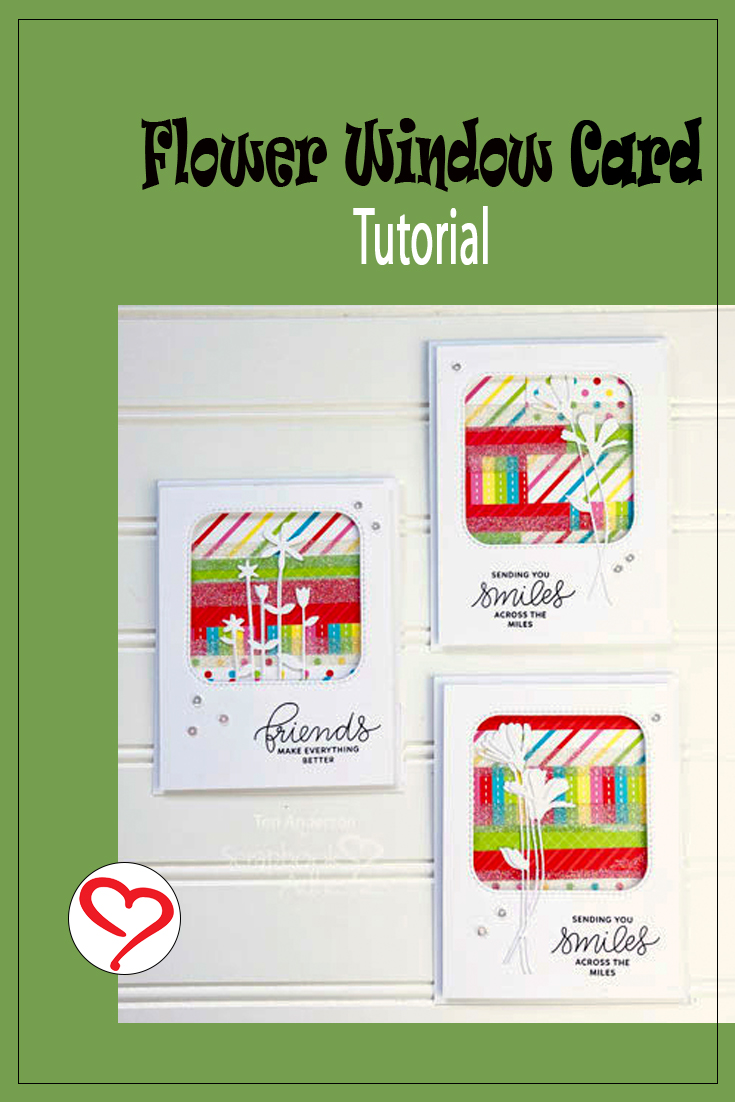 Flower Window Cards by Teri Anderson for Scrapbook Adhesives by 3L Pinterest