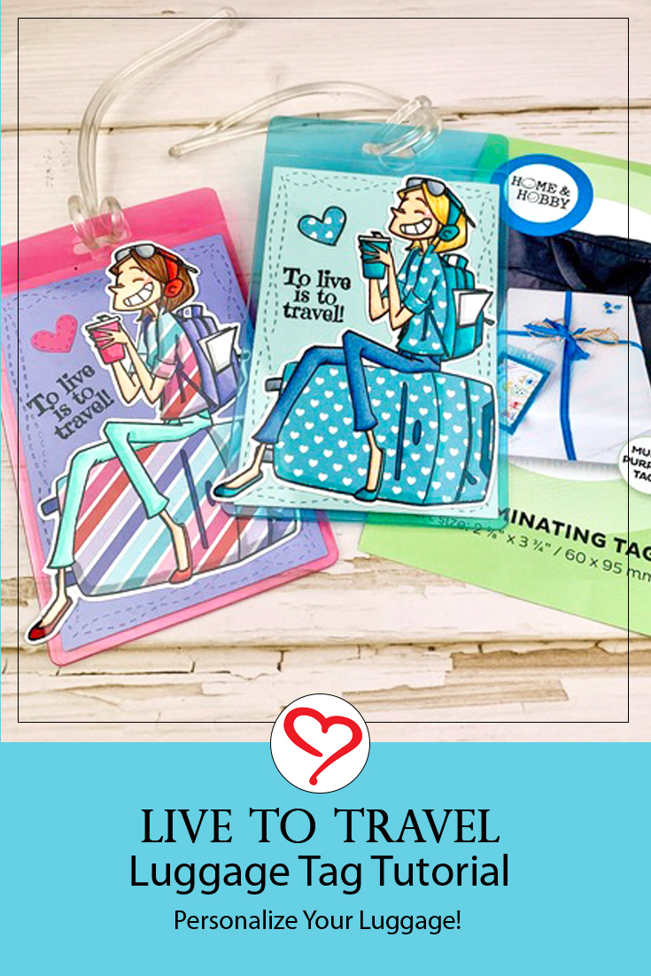 Live to Travel Luggage Tags by Meghan Kennihan for Scrapbook Adhesives by 3L Pinterest