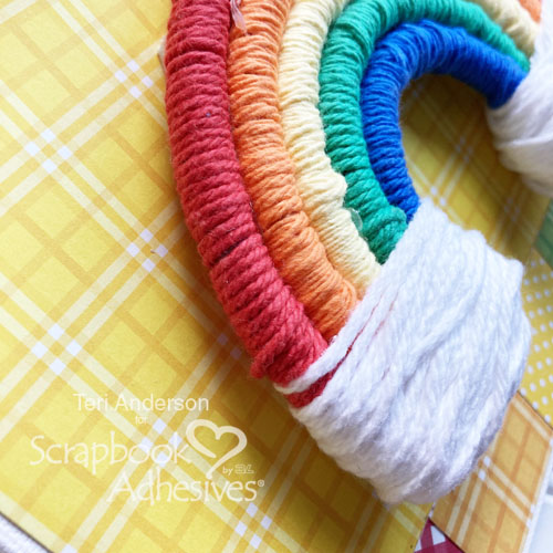Rainbow Wall Hanging by Teri Anderson for Scrapbook Adhesives by 3L