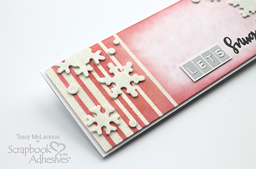 Let's Snuggle Snowflake Slimline Card by Tracy McLennon for Scrapbook Adhesives by 3L