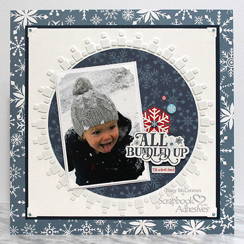 Bundled Up Scrapbook Layout by Tracy McLennon for Scrapbook Adhesives by 3L