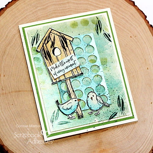 Dimensional Every Moment Mixed Media Card by Connie Mercer for Scrapbook Adhesives by 3L
