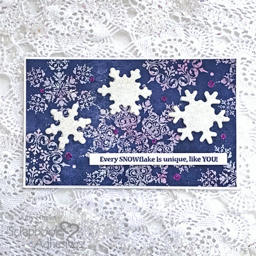 Sparkly Snowflake is Unique Card by Judy Hayes for Scrapbook Adhesives by 3L