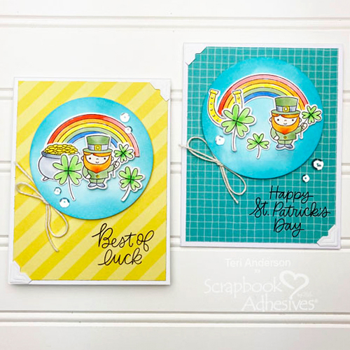 Best of Luck St. Patrick's Day Card Duo by Teri Anderson for Scrapbook Adhesives by 3L
