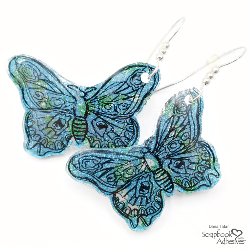Butterfly Earrings with Transfer Foil by Dana Tatar for Scrapbook Adhesives by 3L