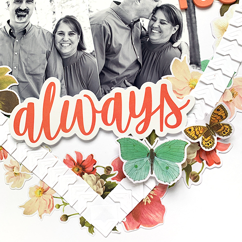 Always Heart Wreath Layout by Christine Meyer for Scrapbook Adhesives by 3L