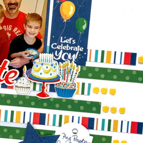 Birthday Celebration Layout by Christine Meyer using Scrapbook Adhesives by 3L