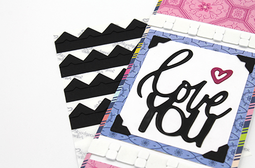 Slimline Love You Card by Tracy McLennon for Scrapbook Adhesives by 3L