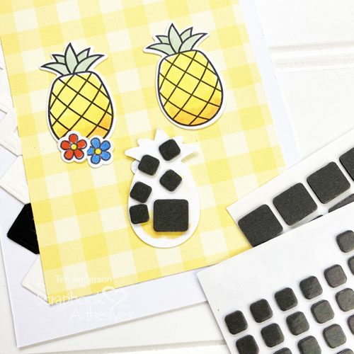 Aloha Nodding Pineapple Card by Teri Anderson for Scrapbook Adhesives by 3L