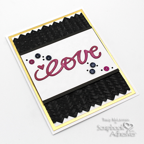 Textured Scale Background Love Card by Tracy McLennon for Scrapbook Adhesives by 3L