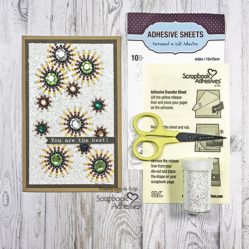 You are the Best Diamond Painting Card by Yvonne van de Grijp for Scrapbook Adhesives by 3L