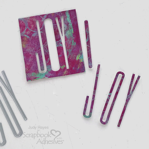 Find Joy Card in Two Ways by Judy Hayes for Scrapbook Adhesives by 3L