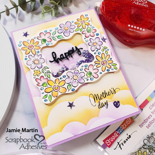 Floral Frame Shaker Card for Mom by Jamie Martin for Scrapbook Adhesives by 3L