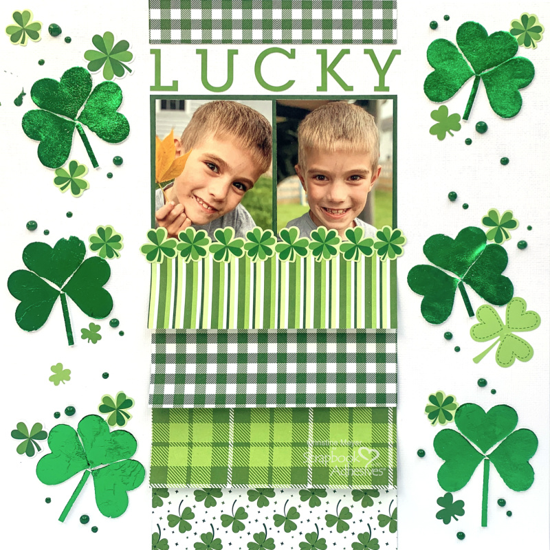 Lucky Scrapbook Layout by Christine Meyer for Scrapbook Adhesives by 3L
