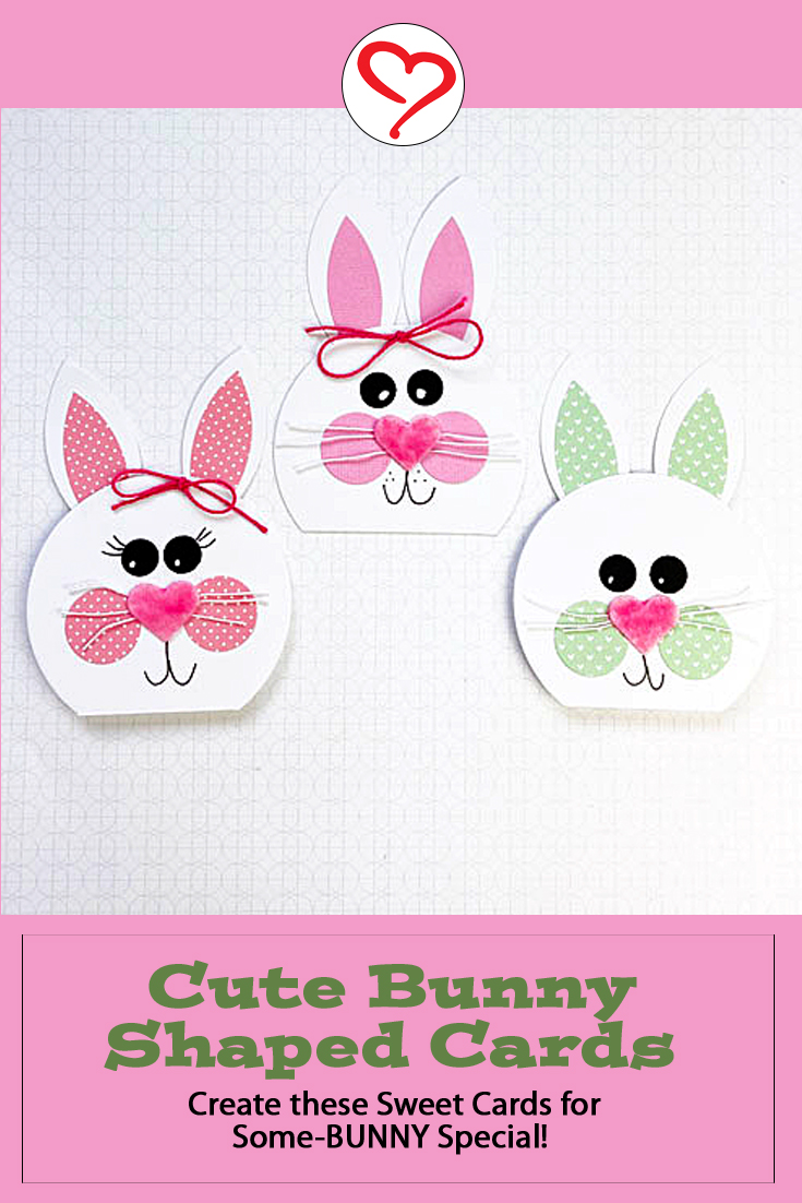 Cute Bunny Shaped Cards by Teri Anderson for Scrapbook Adhesives by 3L Pinterest