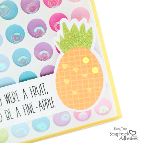 Pineapple Pun Shaker Card by Dana Tatar for Scrapbook Adhesives by 3L