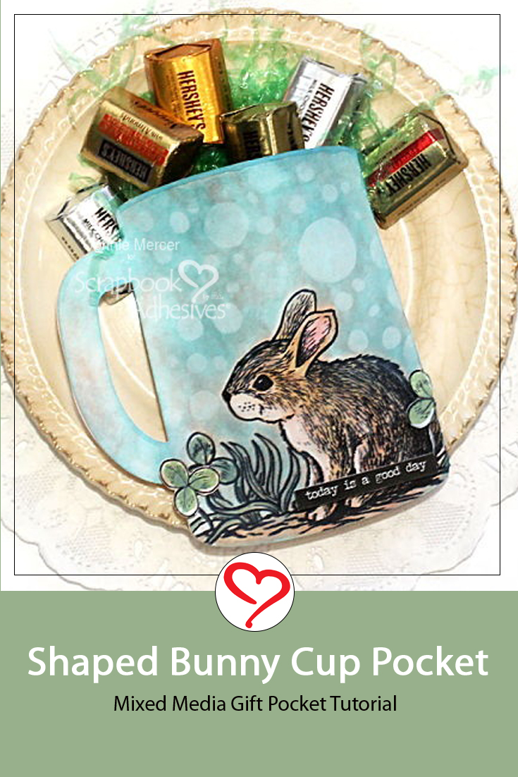 Shaped Bunny Cup Pocket by Connie Mercer for Scrapbook Adhesives by 3L Pinterest