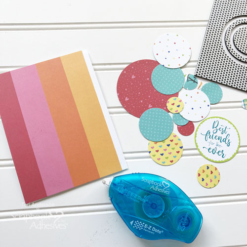 Flocked Circles Cards by Teri Anderson for Scrapbook Adhesives by 3L