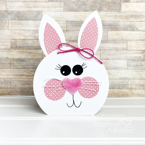 Cute Bunny Shaped Cards by Teri Anderson for Scrapbook Adhesives by 3L