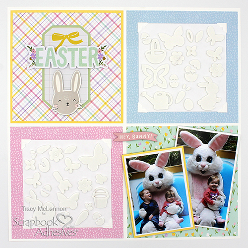 Faux Embossed Easter Layout by Tracy McLennon for Scrapbook Adhesives by 3L