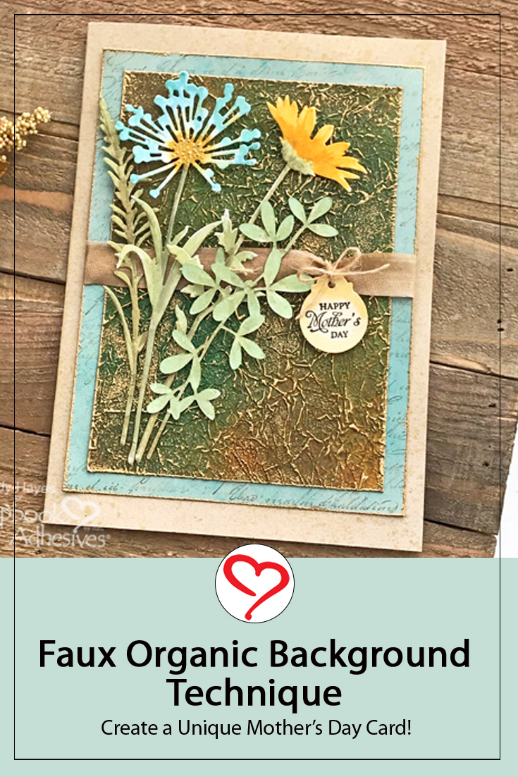 Unique Background Mother's Day Card by Judy Hayes for Scrapbook Adhesives by 3L Pinterest