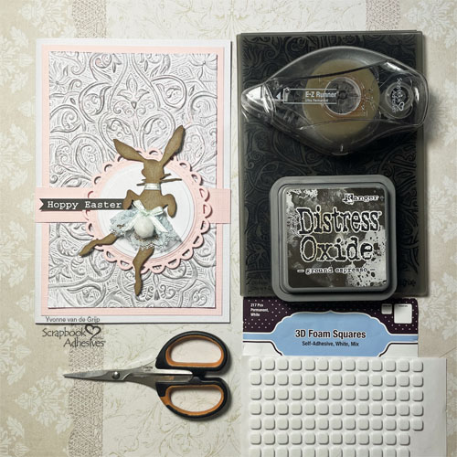 Textured Hoppy Easter Card by Yvonne van de Grjip for Scrapbook Adhesives by 3L