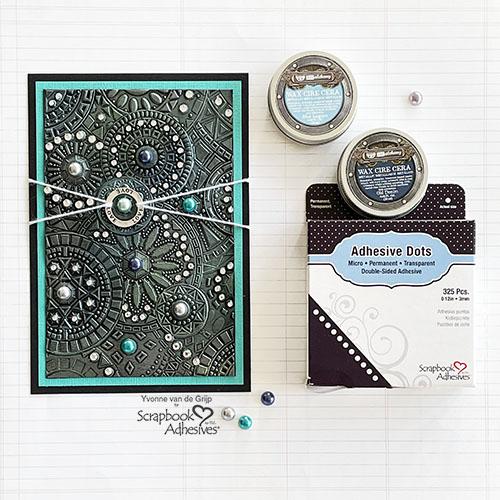 Embossed Jewel Card Tutorial by Yvonne van de Grijp for Scrapbook Adhesives by 3L