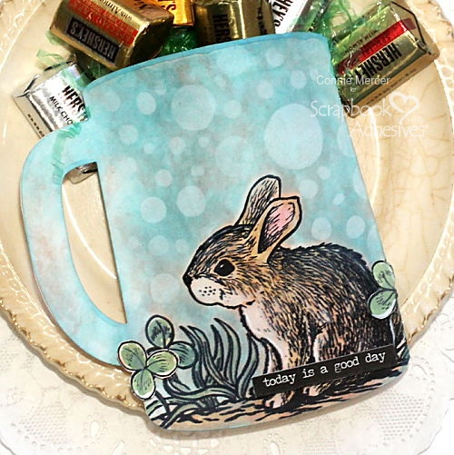 Shaped Bunny Cup Pocket by Connie Mercer for Scrapbook Adhesives by 3L