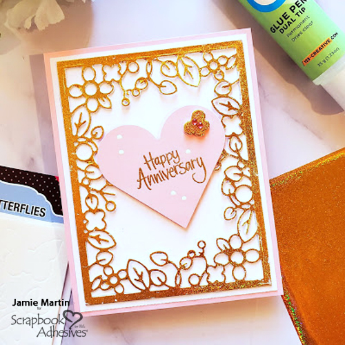 Foiled Floral Anniversary Card by Jamie Martin for Scrapbook Adhesives by 3L