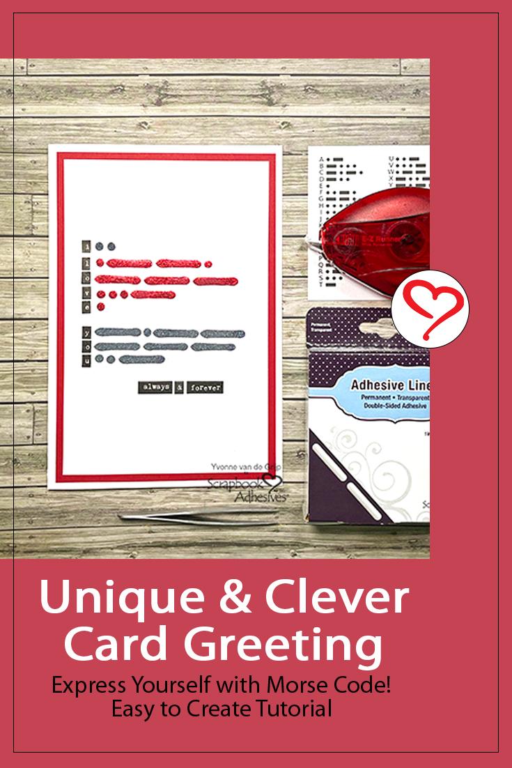 Morse Code Message Card by Yvonne van de Grijp for Scrapbook Adhesives by 3L Pinterest
