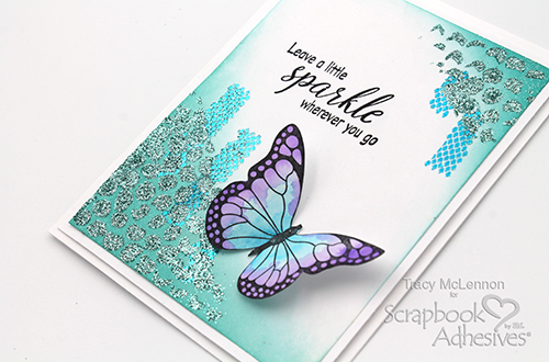 Simple Sparkle Mixed Media Card by Tracy McLennon for Scrapbook Adhesives by 3L