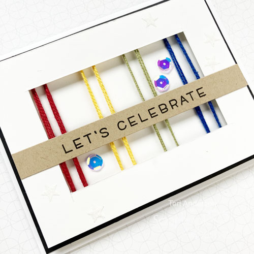 Faux String Art Celebrate Cards by Teri Anderson for Scrapbook Adhesives by 3L