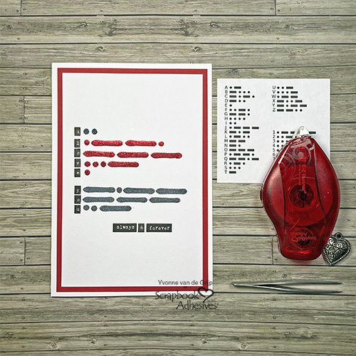 Morse Code Message Card by Yvonne van de Grijp for Scrapbook Adhesives by 3L