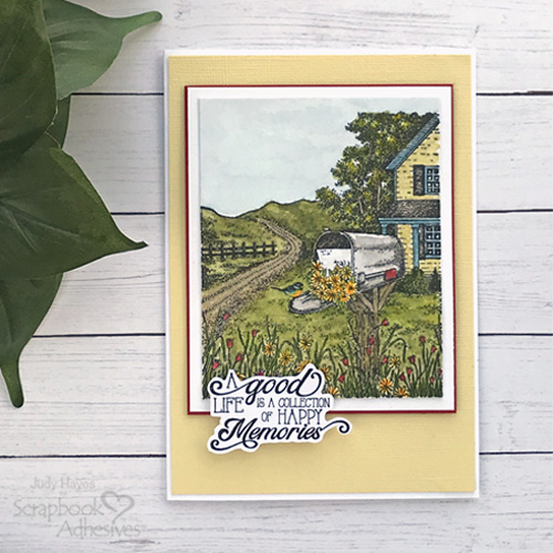 Good Life Happy Memories Card by Judy Hayes for Scrapbook Adhesives by 3L