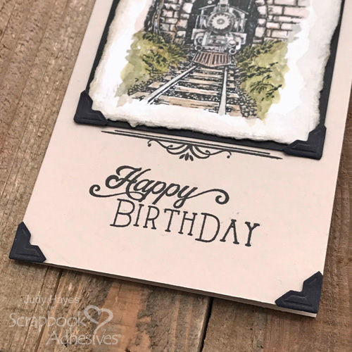 Vintage Train Birthday Card by Judy Hayes for Scrapbook Adhesives by 3L