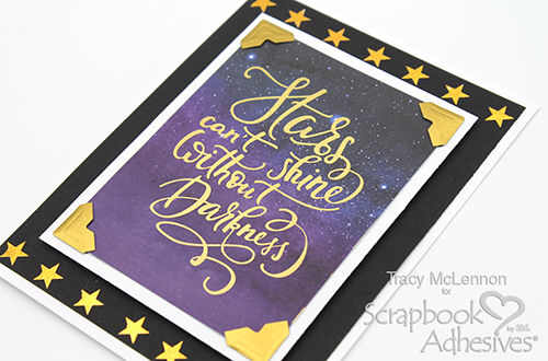 Simple Stars Card by Tracy McLennon for Scrapbook Adhesives by 3L