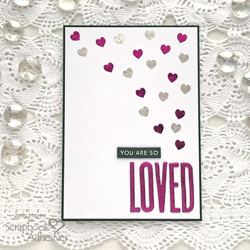 So Loved Hearts Card by Judy Hayes for Scrapbook Adhesives by 3L