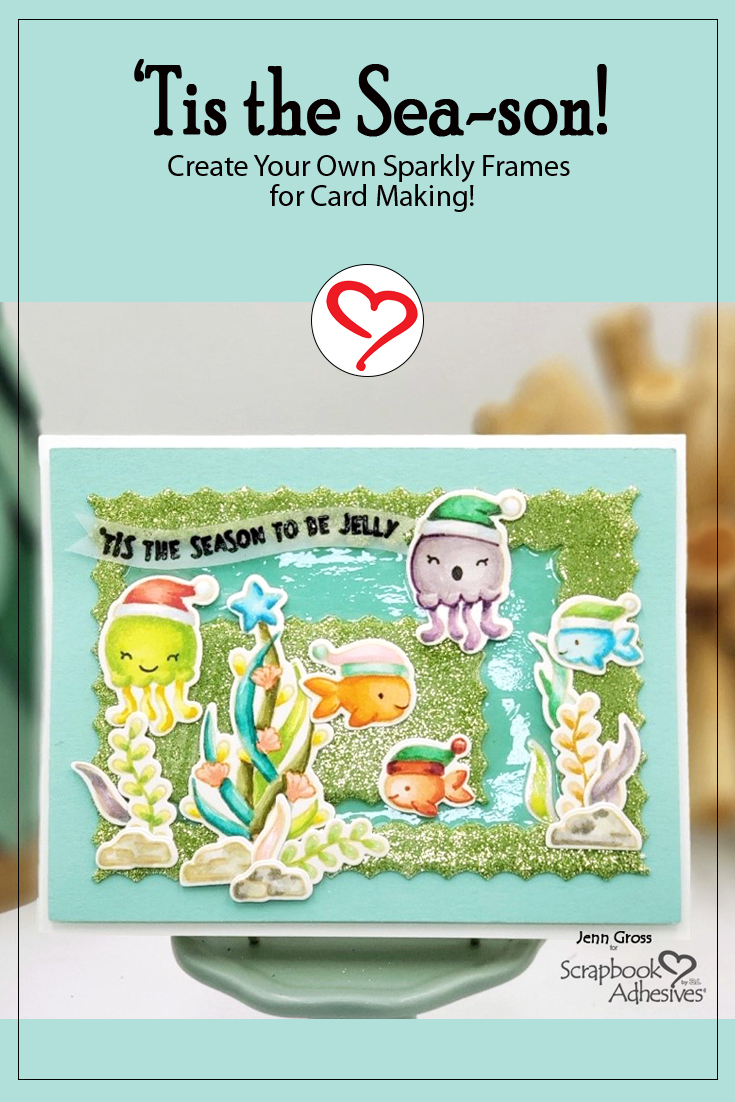 Tis the Sea-son Card by Jenn Gross for Scrapbook Adhesives by 3L Pinterest