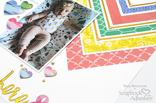 Large Chevron Background Layout by Tracy McLennon for Scrapbook Adhesives by 3L