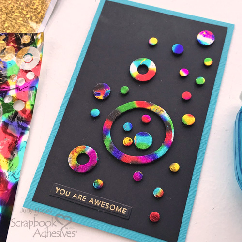 Holographic Circles Card by Judy Hayes for Scrapbook Adhesives by 3L