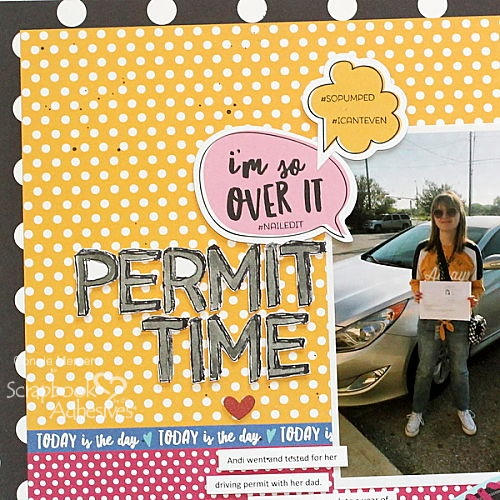 Permit Time for a Scrapbook Page by Connie Mercer for Scrapbook Adhesives by 3L