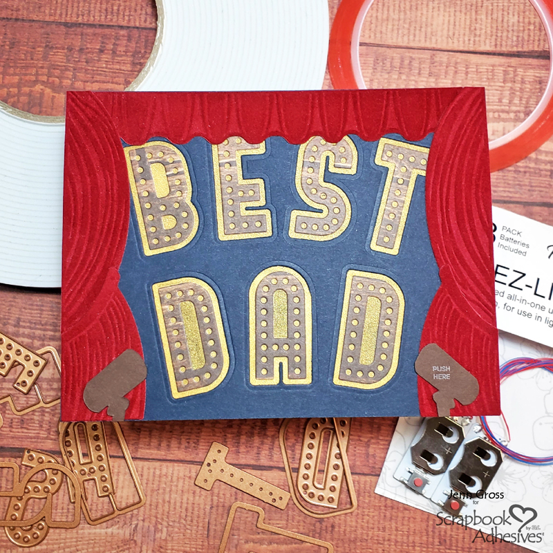 Best Dad Show Interactive Card |by Jenn Gross for Scrapbook Adhesives by 3L