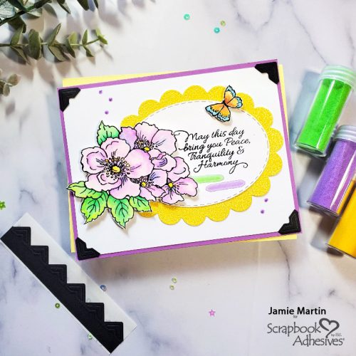Framed Floral Harmony Card by Jamie Martin for Scrapbook Adhesives by 3L