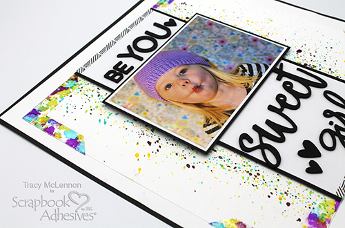 Be YOU Scrapbook Layout with Inky Corners by Tracy McLennon for Scrapbook Adhesives by 3L