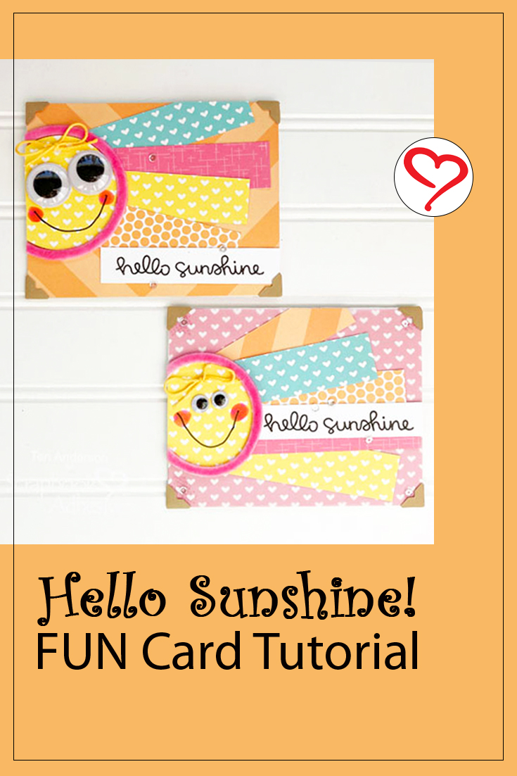 Sunny Cards for Summer by Teri Anderson for Scrapbook Adhesives by 3L Pinterest