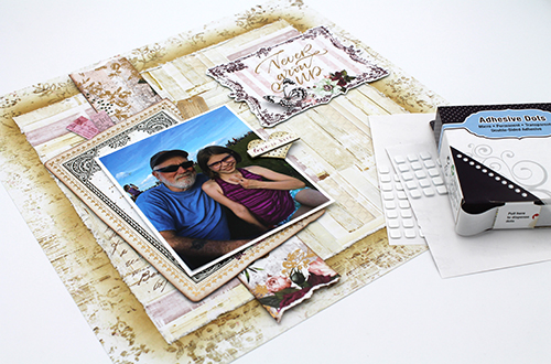 Dimensional Layout Step by Step by Tracy McLennon for Scrapbook Adhesives by 3L