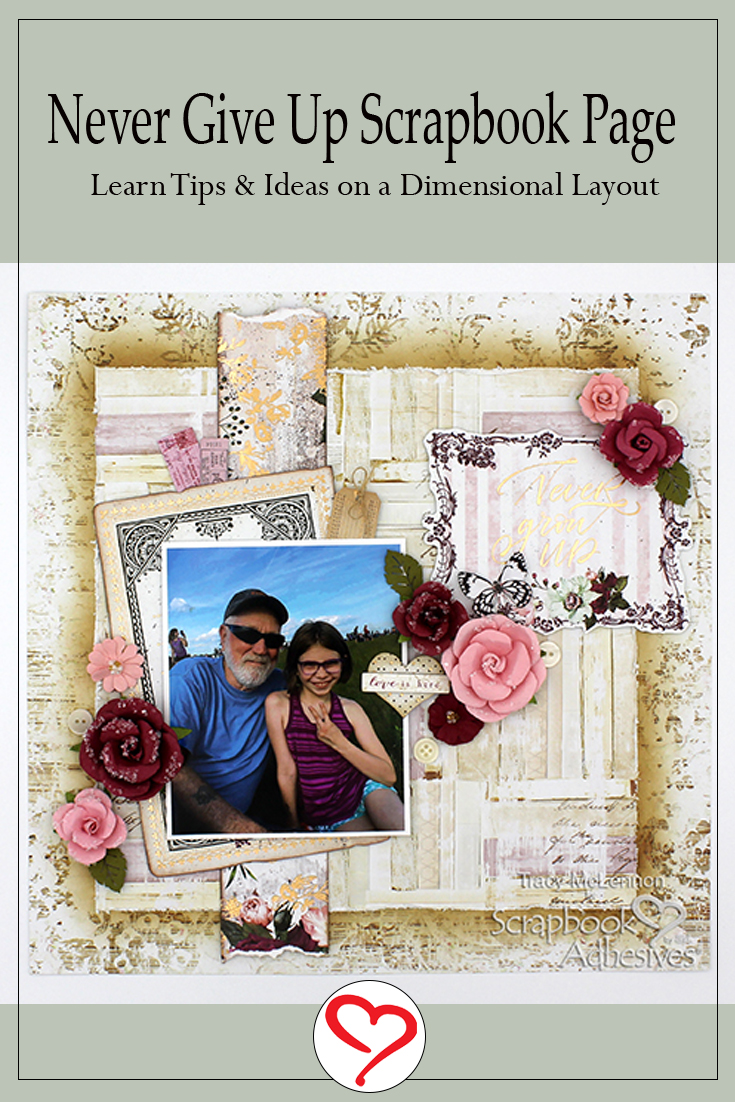 Dimensional Layout Step by Step by Tracy McLennon for Scrapbook Adhesives by 3L Pinterest